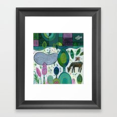 Playful Dawn Framed Art Print