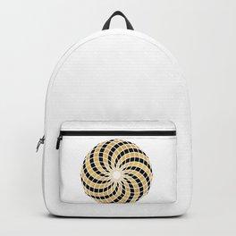 BLACK AND GOLD TORUS circular sacred geometry Backpack