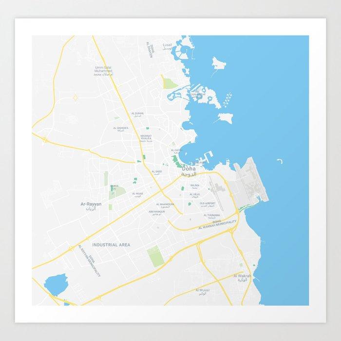 Doha Area Map on