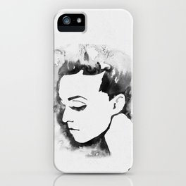 Portrait  (Ink Painting) iPhone Case