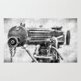 Vickers Machine Gun Vintage Rug