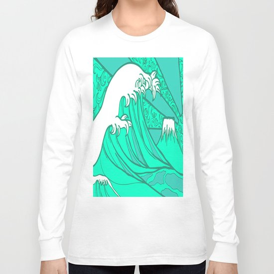 FRESH WAVE AND MOUNTAIN Long Sleeve T-shirt