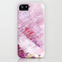 Magnetic [10]: a minimal abstract piece in gold, pink, red, white and purple iPhone Case