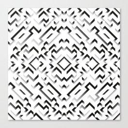 white pattern Canvas Print