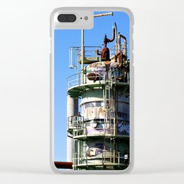 Oil Refinery Clear iPhone Case