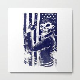 Ghost biker Metal Print