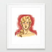 apollo Framed Art Prints featuring Apollo by FlockeInc