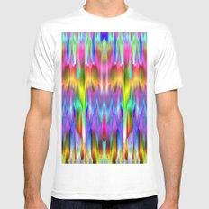 Colorful digital art splashing G488 White MEDIUM Mens Fitted Tee
