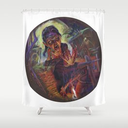 The Wolf Woman Shower Curtain