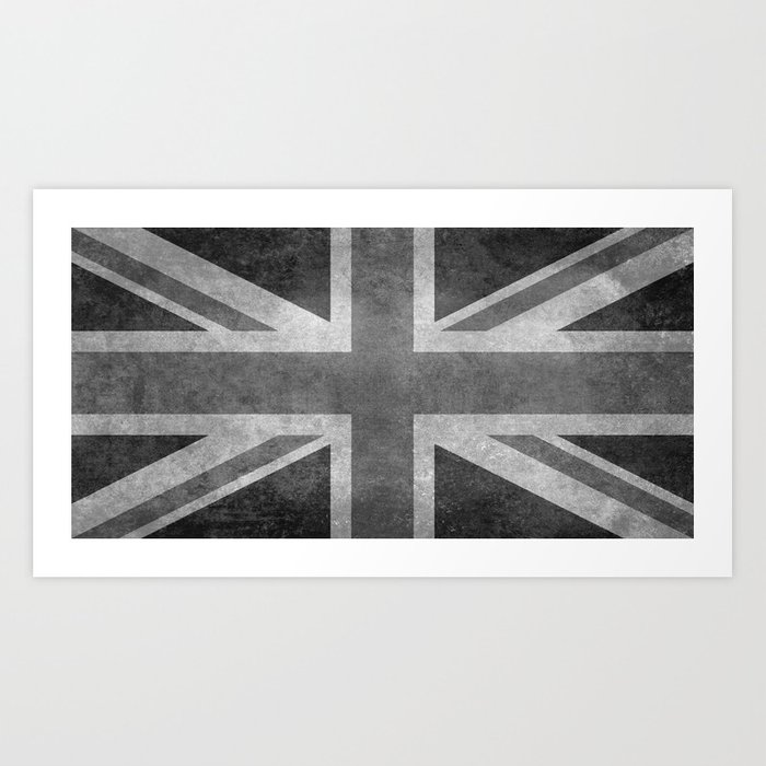 British Union Jack flag 1:2 scale retro grunge Art Print ...