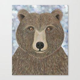 brown bear woodland animal portrait Canvas Print