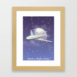 book a flight today Framed Art Print