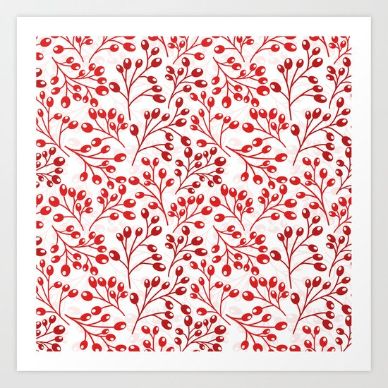Autumn red berries Art Print