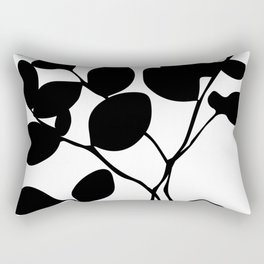black and white botanical Rectangular Pillow