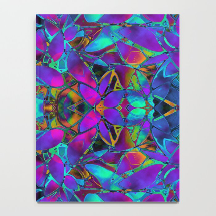 Fractal Floral Abstract G293 Notebook