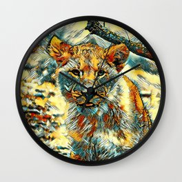 AnimalArt_Lion_20171204_by_JAMColorsSpecial Wall Clock