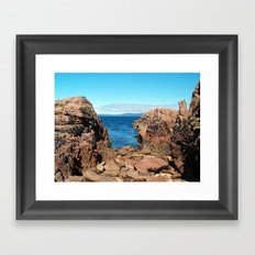 Pink Granite 2 Framed Art Print