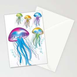 jellyfishes interior design by Crearinery Stationery Cards