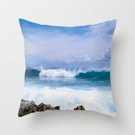 Aruba Waves Throw Pillow
