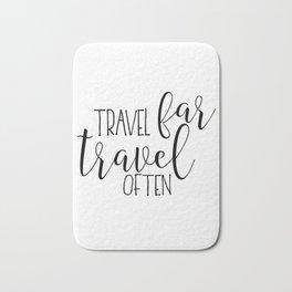 TRAVEL POSTER, Travel Far Travel Often,Travel Gifts,Travel Decor,Quote Prints,Scandinavian Poster,Pr Bath Mat