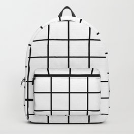 black and white grid pattern Backpack