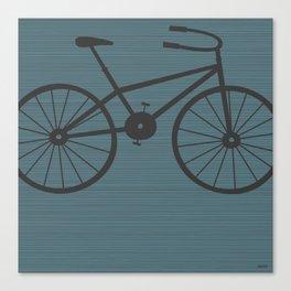 Grey Bike by Friztin Canvas Print