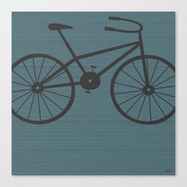 Grey Bike by Friztin Canvas Print