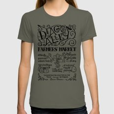Diagon Alley Farmers' Market Womens Fitted Tee Lieutenant LARGE