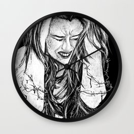 My Thoughts Turn to Daggers Wall Clock