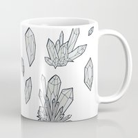 crystals Mugs featuring Crystals by Sushibird