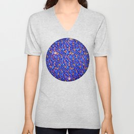 Blue Sub-atomic Lattice Unisex V-Neck