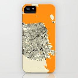 San Francisco Map Moon iPhone Case