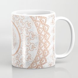 Mandala - rose gold and white marble Coffee Mug