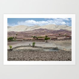 Panoramic scenic landscape at Maragua Crater. View of a village inside the crater of Maragua dormant Art Print