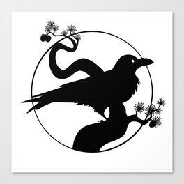 Raven Silhouette I Canvas Print