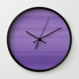 Ultra Violet Gradient Stripes Trendy Color of the year 2018 Wall Clock