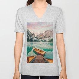 Lago Di Braies Unisex V-Neck
