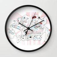 circus Wall Clocks featuring CIRCUS by Vanja Cankovic