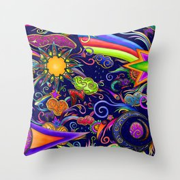 Stars in the sky Throw Pillow