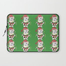 Snowbell and the Christmas lights Laptop Sleeve