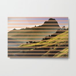 Landscape pattern (with pink touches) Metal Print