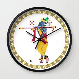 Krishna Pixel Art Wall Clock