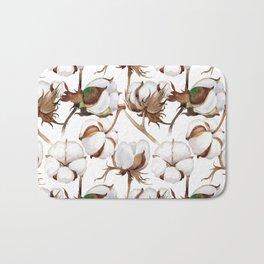 Cotton Flower Pattern 02 Bath Mat