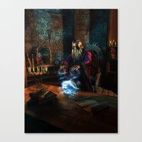 wizard Canvas Prints featuring Wizard by Digital Dreams