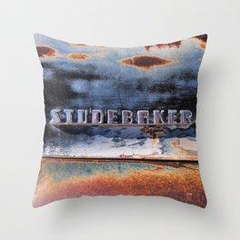 Studebaker Old Rusty Truck Emblem Throw Pillow
