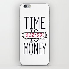 Time is Money iPhone & iPod Skin
