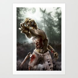 Zombie Walkers of The Living Dead Art Print