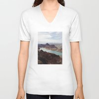 colorado V-neck T-shirts featuring The Colorado River by Kevin Russ