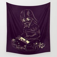 dark side Wall Tapestries featuring Dark Side by yortsiraulo