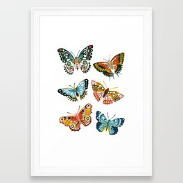 Woodland Butterfly Print Framed Art Print